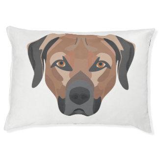 Illustration Dog Brown Labrador Pet Bed