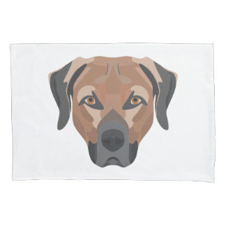 Illustration Dog Brown Labrador Pillowcase