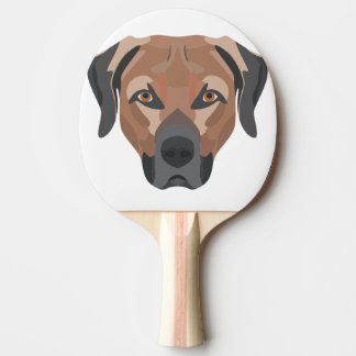 Illustration Dog Brown Labrador Ping Pong Paddle