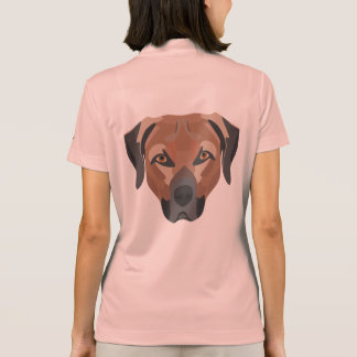 Illustration Dog Brown Labrador Polo Shirt