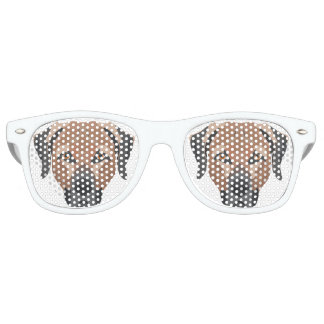 Illustration Dog Brown Labrador Retro Sunglasses