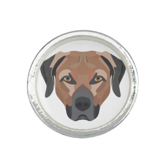 Illustration Dog Brown Labrador Ring
