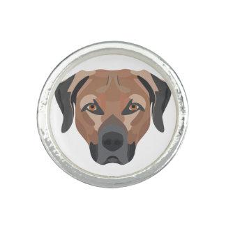 Illustration Dog Brown Labrador Rings