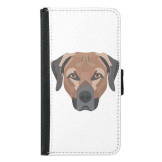 Illustration Dog Brown Labrador Samsung Galaxy S5 Wallet Case