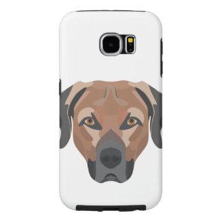 Illustration Dog Brown Labrador Samsung Galaxy S6 Cases