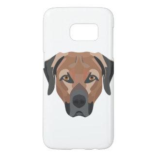 Illustration Dog Brown Labrador Samsung Galaxy S7 Case