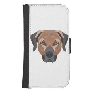 Illustration Dog Brown Labrador Samsung S4 Wallet Case