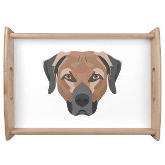 Illustration Dog Brown Labrador Serving Tray