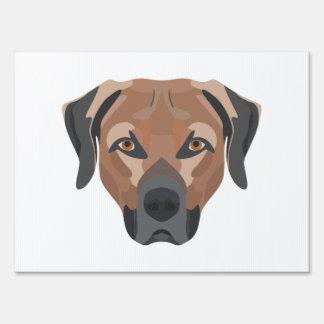 Illustration Dog Brown Labrador Sign