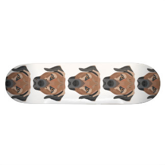 Illustration Dog Brown Labrador Skate Deck