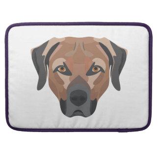 Illustration Dog Brown Labrador Sleeve For MacBook Pro