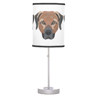 Illustration Dog Brown Labrador Table Lamp