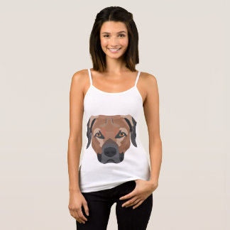 Illustration Dog Brown Labrador Tank Top