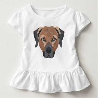 Illustration Dog Brown Labrador Toddler T-shirt