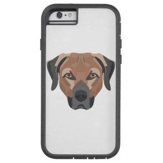Illustration Dog Brown Labrador Tough Xtreme iPhone 6 Case