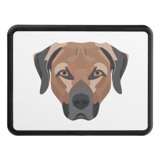 Illustration Dog Brown Labrador Trailer Hitch Cover