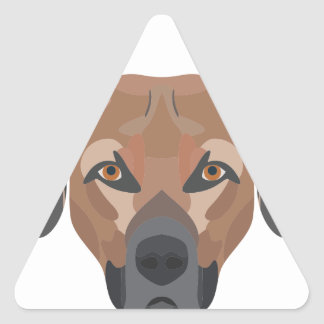Illustration Dog Brown Labrador Triangle Sticker