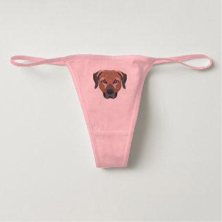 Illustration Dog Brown Labrador Underwear