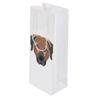 Illustration Dog Brown Labrador Wine Gift Bag