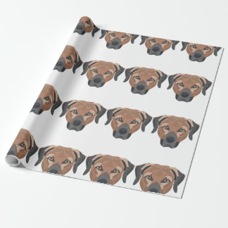 Illustration Dog Brown Labrador Wrapping Paper