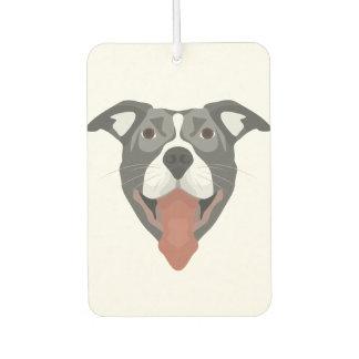 Illustration Dog Smiling Pitbull Air Freshener