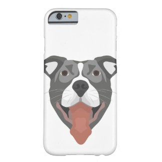 Illustration Dog Smiling Pitbull Barely There iPhone 6 Case