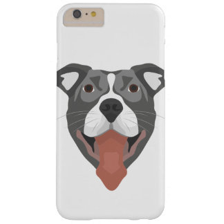 Illustration Dog Smiling Pitbull Barely There iPhone 6 Plus Case