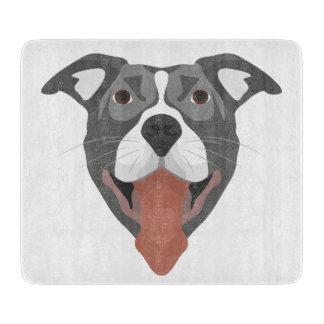 Illustration Dog Smiling Pitbull Boards