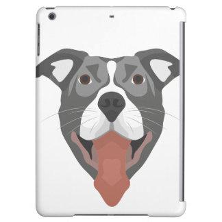 Illustration Dog Smiling Pitbull Case For iPad Air