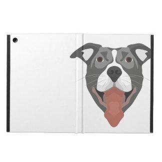 Illustration Dog Smiling Pitbull Cover For iPad Air