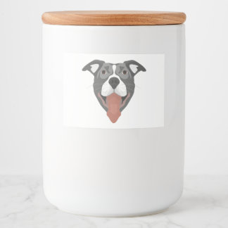 Illustration Dog Smiling Pitbull Food Label
