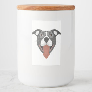 Illustration Dog Smiling Pitbull Food Label