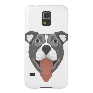 Illustration Dog Smiling Pitbull Galaxy S5 Cases