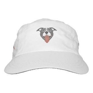 Illustration Dog Smiling Pitbull Hat