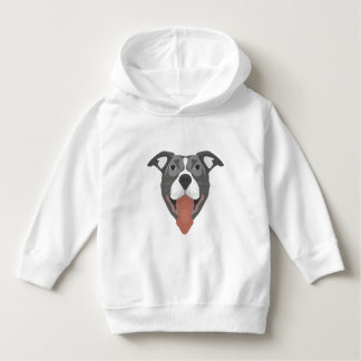 Illustration Dog Smiling Pitbull Hoodie