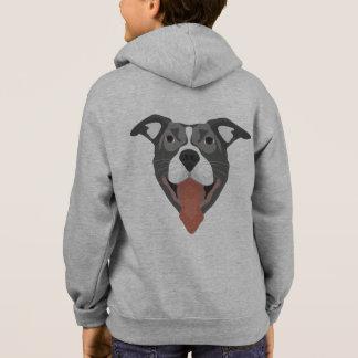 Illustration Dog Smiling Pitbull Hoodie