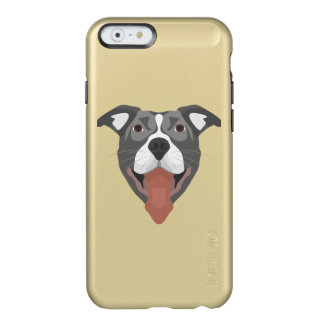 Illustration Dog Smiling Pitbull Incipio Feather® Shine iPhone 6 Case