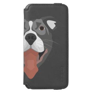 Illustration Dog Smiling Pitbull Incipio Watson™ iPhone 6 Wallet Case