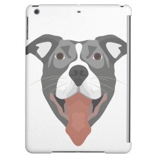 Illustration Dog Smiling Pitbull iPad Air Cover