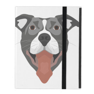 Illustration Dog Smiling Pitbull iPad Cover