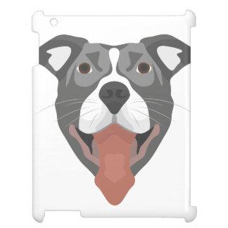 Illustration Dog Smiling Pitbull iPad Covers