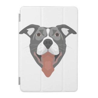 Illustration Dog Smiling Pitbull iPad Mini Cover