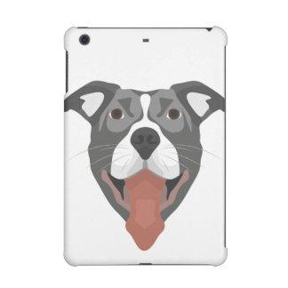 Illustration Dog Smiling Pitbull iPad Mini Retina Covers