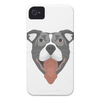 Illustration Dog Smiling Pitbull iPhone 4 Cover