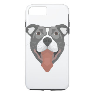 Illustration Dog Smiling Pitbull iPhone 8 Plus/7 Plus Case