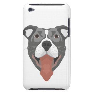 Illustration Dog Smiling Pitbull iPod Case-Mate Cases