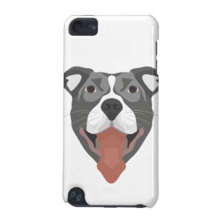 Illustration Dog Smiling Pitbull iPod Touch (5th Generation) Cases