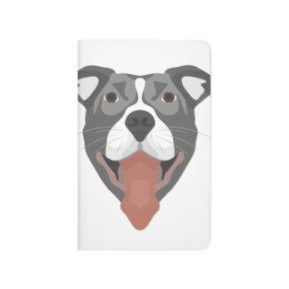 Illustration Dog Smiling Pitbull Journal