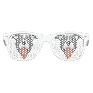 Illustration Dog Smiling Pitbull Kids Sunglasses