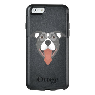 Illustration Dog Smiling Pitbull OtterBox iPhone 6/6s Case